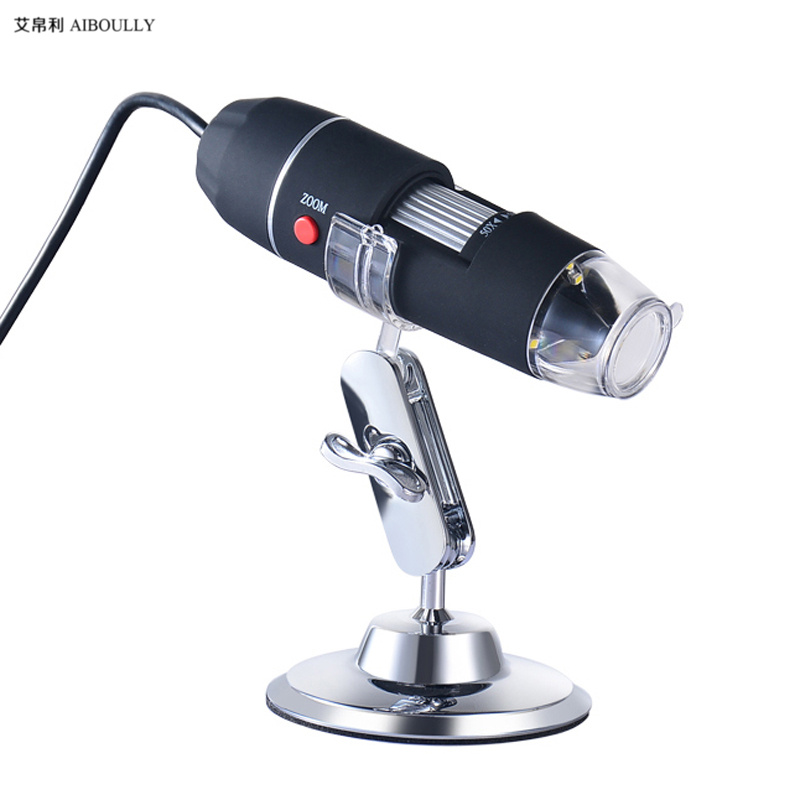 Zoom in 1000 times digital microscope mobile phone repair magnifying glass skin hair detection Pathological Health observation mobile phone microscope