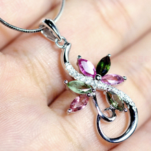 Pure Pink Tourmaline Gem Stones Necklaces & Pendants 925 Sterling Silver For Ladies Snake Chain Micro Inlay Pave Nice Jewellery