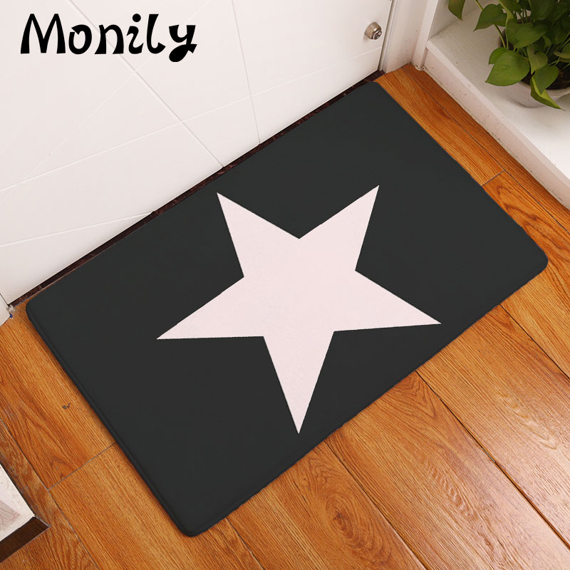 Monily Nordic Entrance Anti-Slip Floor Mat Waterproof Simple Star Carpets Bedroom Rugs D ...