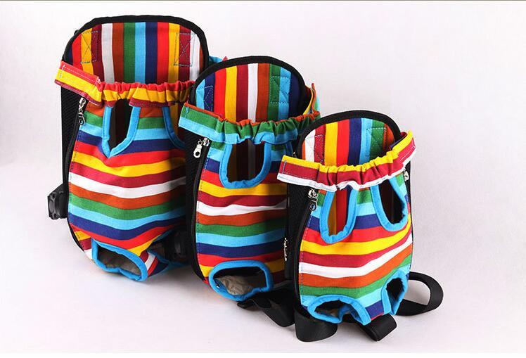 Pet dog backpack chest kangaroo pet bag double-shoulder