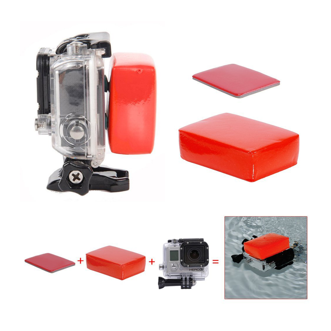 23-in-1/21-in-1 game External sports indispensable accessories for Gopro HD Hero4 Hero 1 2 3 3+ 4, SJ4000, and Sports Cameras