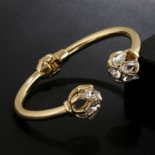 WLP Brand Jewelry New Fashion bracelets bangles Open women's gold bangles temperament female crystal bangles accessories gifts