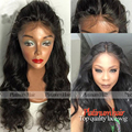 Stock! 180 Density High Quality Heat Resistant Glueless Synthetic Lace Front Wig For Black Women Black Wave Hair Synthetic Wigs