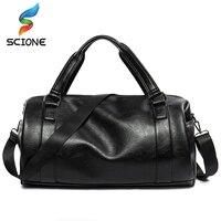 Scione Outdoor Men S Soft Leather Sport Bags Travel Case Workout Shoulder Bag HandBag Fitness Gym