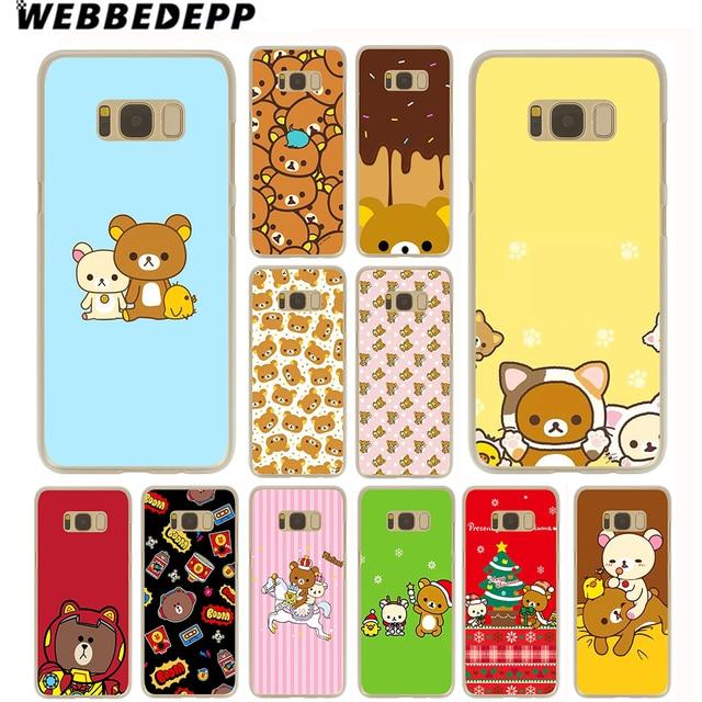 buy online 0ed6c 72896 US $1.99 13% OFF|WEBBEDEPP Rilakkuma kawaii Cute Bear Case for Samsung  Galaxy S10 S10E S9 S8 Plus S7 S6 Edge & Note 8 9 Phone Cover-in  Half-wrapped ...