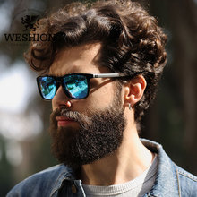 WESHION Classic Women Aluminum Polarized Square Sunglasses Men Driving Fishing Shades Oculos De Sol Feminino Masculino UV400
