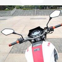 1คู่สากลรถจักรยานยนต์กระจกอุปกรณ์ชิ้นส่วนสกู๊ตเตอร์Motoกระจกมองหลัง