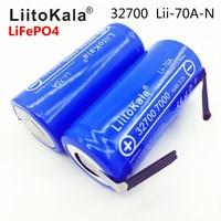 2019 LiitoKala Lii-70A 32700 lifepo4 3.2 فولت 7000 مللي أمبير 33A 55A لحام قطاع ل مفك بطارية دراجة كهربائية تعمل بالطاقة + النيكل ورقة