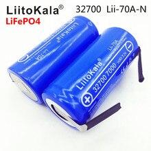 2019 LiitoKala Lii 70A 32700 lifepo4 3.2 فولت 7000 مللي أمبير 33A 55A لحام قطاع ل مفك بطارية دراجة كهربائية تعمل بالطاقة + النيكل ورقة