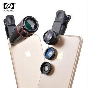 Image 1 - אוניברסלי 12X טלה טלסקופ האופטי זום עדשה + רחב זווית & מאקרו + Fisheye עדשת מצלמה עדשת קיט עבור iPhone7 6 בתוספת Samsung
