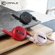 Cafele 2in1 выдвижной 1.5 м кабеля micro usb и IOS 8Pin кабель для Android Micro USB и для iphone 8Pin Порты и разъёмы