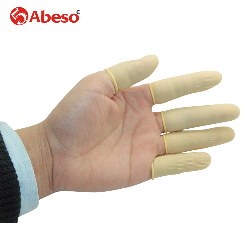 1000pcs/lot ABESO Antistatic durable latex finger cots safety gloves antiskid for chalk Electronic finger cots A7211 100pcs protective antislip fingertips gloves latex rubber finger cots antistatic gloves workplace safety supplies