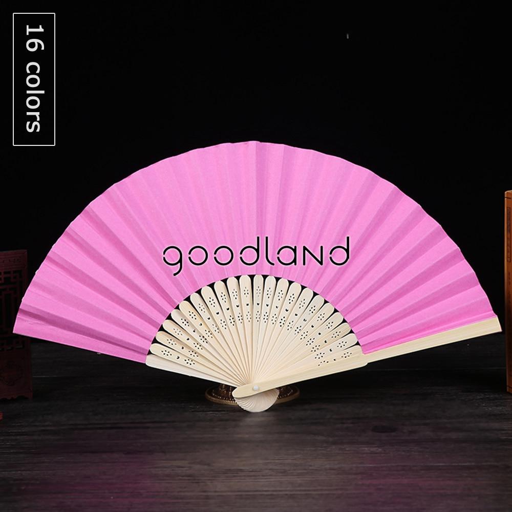 Wholesale Free Shipping 100pcs Mulit Colors Plain Bamboo Paper Fan ...