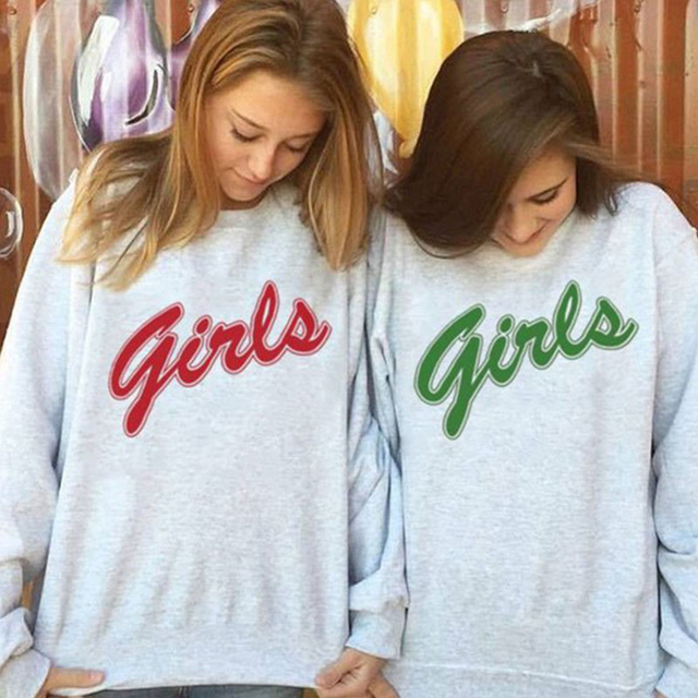 Girls Sweatshirt Women Friends Tv Show Rachel Shirts And Monica