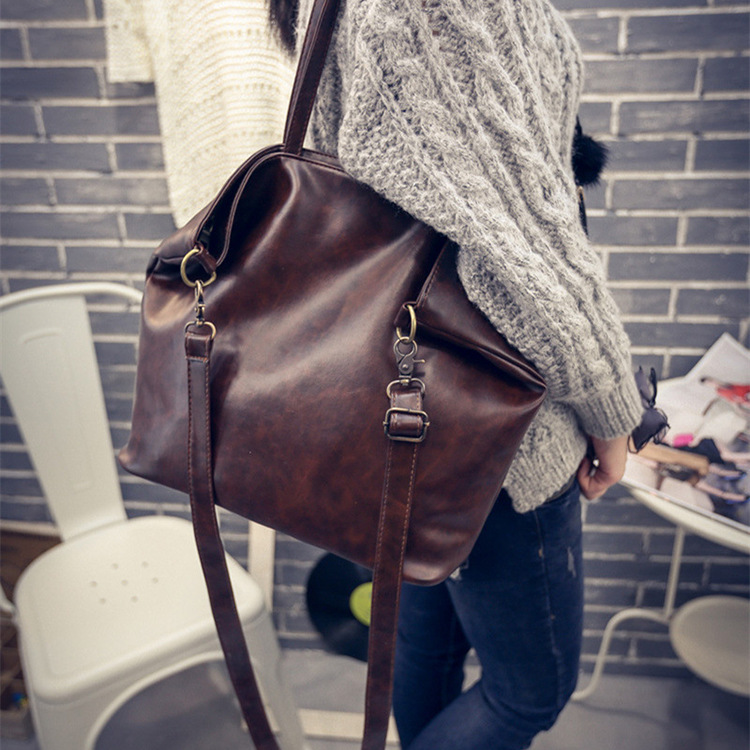 Fashion Tote Women PU Leather Handbag Casual Style Big Tote Bag High Quality Female Large Shoulder Bags High Capacity vintage handbag women casual tote bag female large shoulder messenger bags high quality pu leather handbag with fur ball bolsa