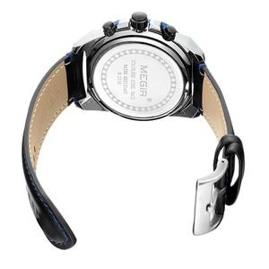 Image 5 - Часы MEGIR мужские, армейские, кварцевые, водонепроницаемые