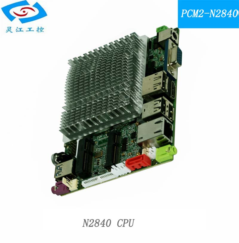 FANLESS mini industrial motherboard with mini-pcie ports support windows OS and 1*MSATA 1*SATA 3