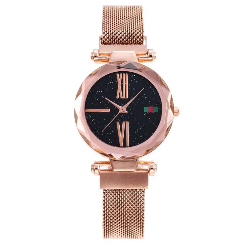 Hot Luxury Starry Sky Women Watches Rose Purple Bracelet Prismatic Quartz Ladies Watch Thin Steel Female Clock relogio feminino