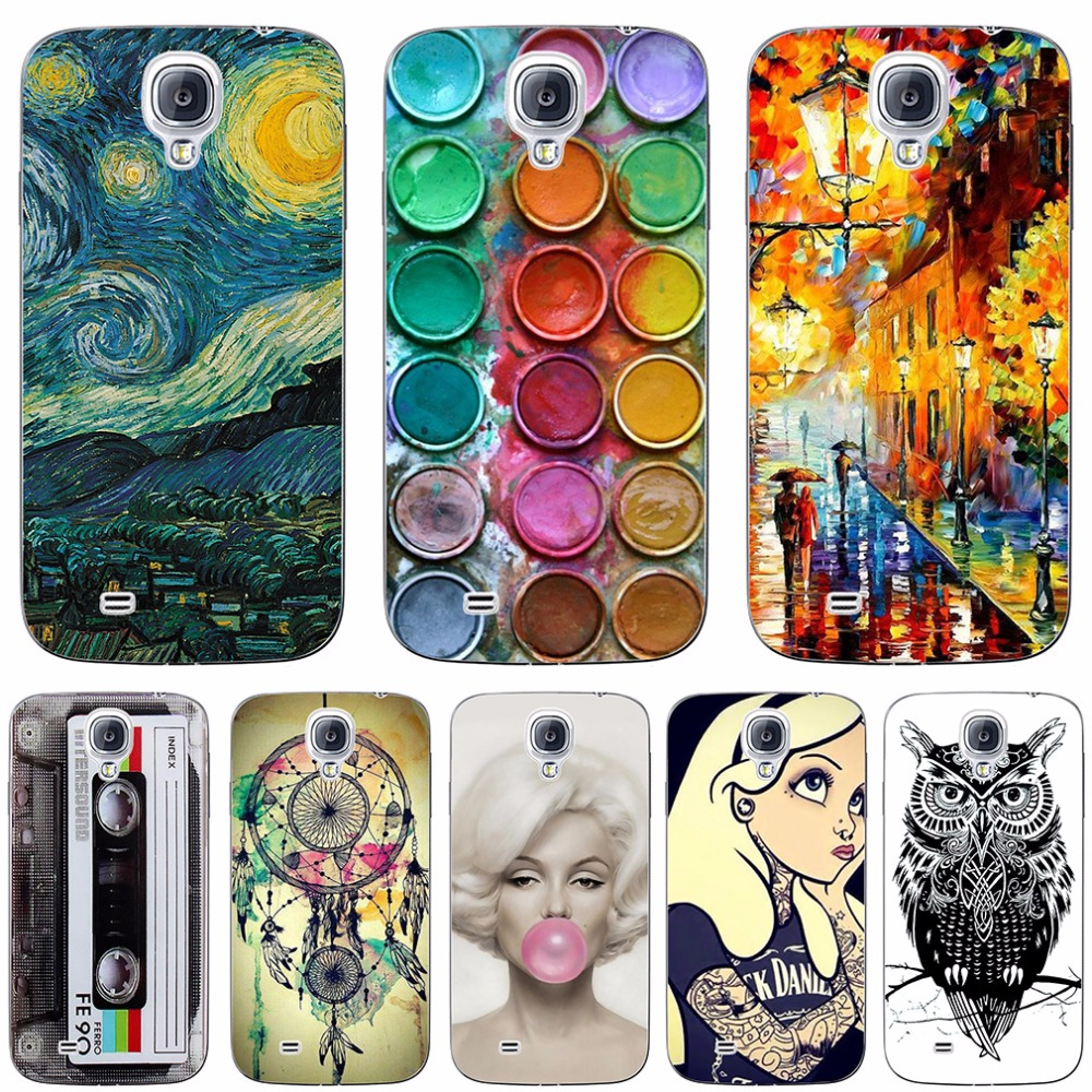Galleria fotografica For Samsung Galaxy S4 i9500 Case Cover Pattern Silicone Soft Case For Samsung S4 Phone Case Funda Hoesje Protective For S 4