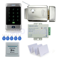 Full Waterproof Touch Metal Access Control C30 Keypad Electric Control Lock 3A 12V Power Supply Exit