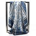 Diseñador de la Marca de lujo Bufandas para las mujeres Ropa de Moda de Trabajo Patrón de la Cadena De Satén Bufanda Hijabs Pañuelo de Regalo 60 cm * 60 cm