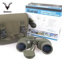 Military hunting HD Marine Binoculars boshile 10X50 Zoom Rangefinder Compass Telescope Eyepiece Waterproof Nitrogen bak4 black