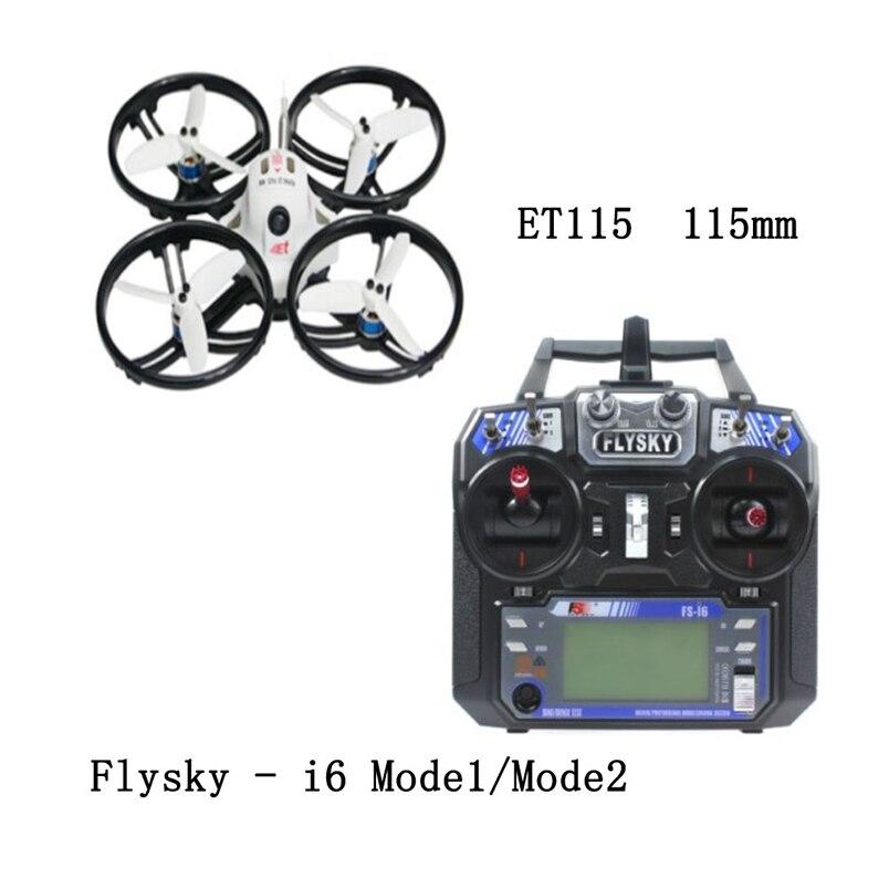 ET115 ET125 RTF RC Quadcopter con FS-i6 Trasmettitore del Telecomando 800TVL Camera Brushless FPV Coperta Da Corsa Drone