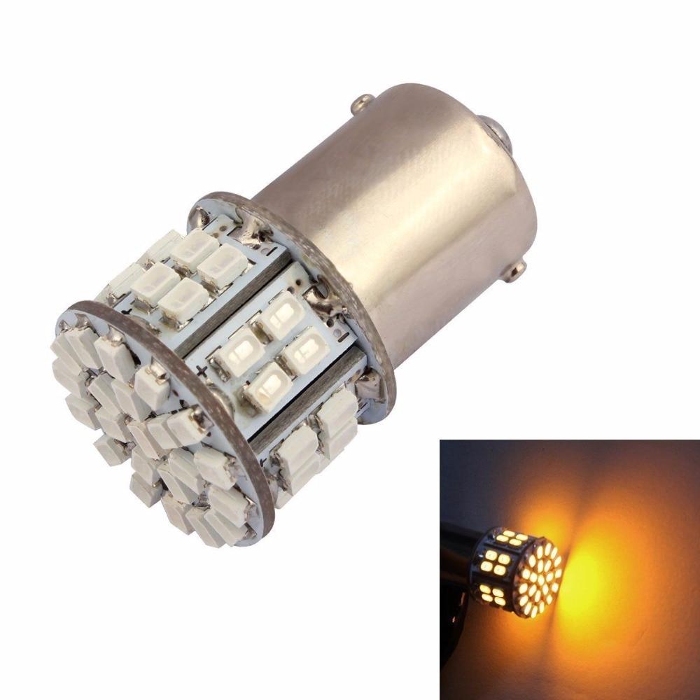 CYAN SOIL BAY 1X BA15S 1156 P21W 50 SMD 1206 3020 50 Led SMD Car Brake Light Turn Signal Bulbs Rear Parking Reverse Lamps Amber цена и фото