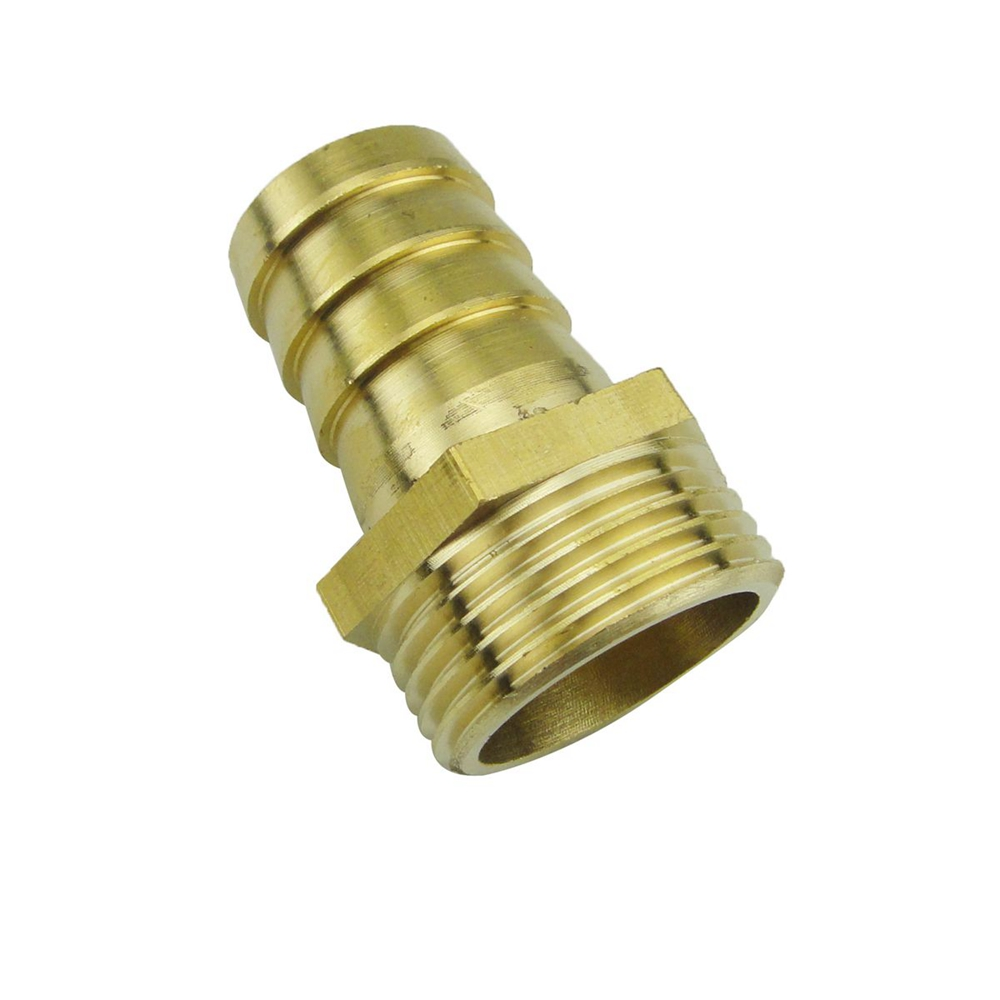 50mm Hose Barb Tail To 2BSP 58mm OD Male Thread Straight Brass Connector Joint Copper Pipe Fitting Coupler 2pcs 32mm hose barb tail to 1 1 4pt bsp male thread straight barbed brass connector joint copper pipe fitting coupler adapter