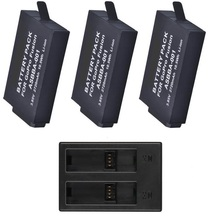 Аккумуляторная батарея Clownfish 2720 мАч для Gopro Fusion, зарядное устройство с 3 USB портами и 2 слотами для GoPro Fusion, аксессуары для экшн камеры 360 градусов