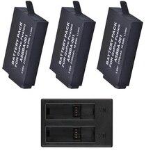 Pesce pagliaccio 2720mAh per batteria Gopro Fusion caricabatterie USB a 2 slot a 3 vie per GoPro Fusion accessori per Action cam a 360 gradi
