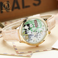 Miss Keke Children Cartoon Watch Handmade 3D Clay Panda Quartz Watches Leather Girls Boys Kids Casual Waterproof Wristwatch 10
