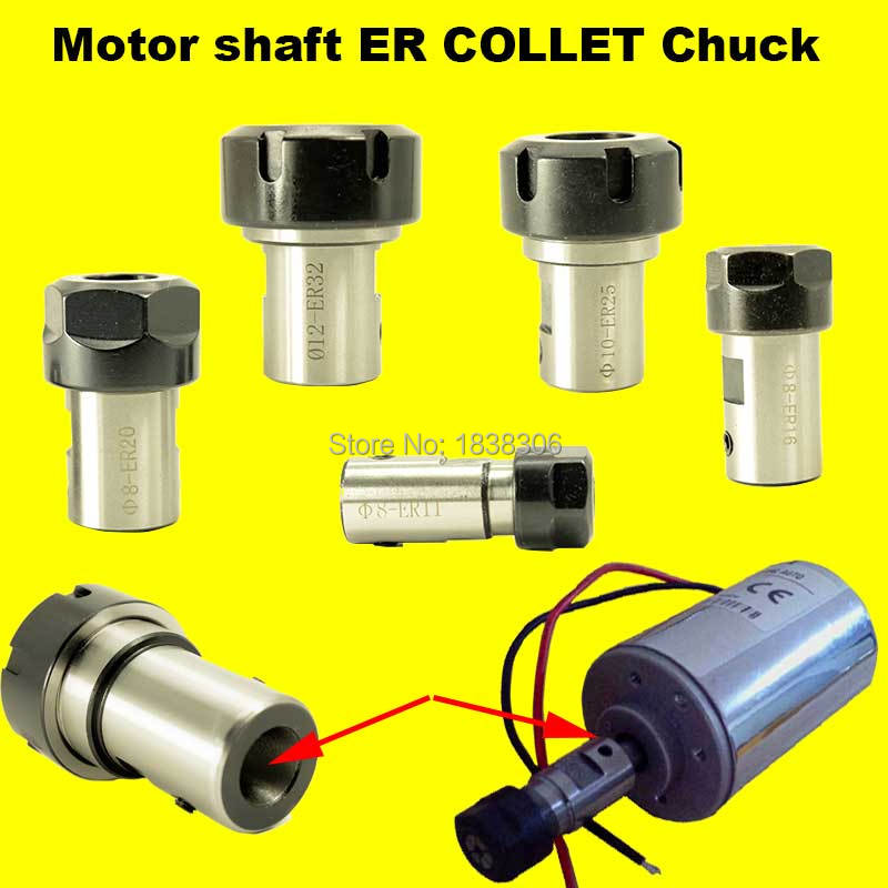 ER20 collet Motor shaft  Chuck ER  ER11 ER16 ER25 ER32 spindle Extension Rod tool holder CNC Milling drill chuck B10 12 18 JT2 6 bt40 er20 70l milling chuck tool holder for cnc milling machine center