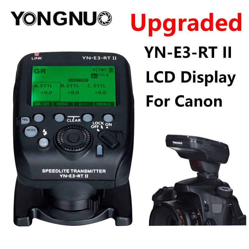 Transmetteur Speedlite à déclenchement Radio Yongnuo YN-E3-RT II TTL comme ST-E3-RT pour Canon 600EX-RT II, YONGNUO YN600EX-RT II