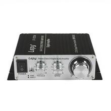 Lepai/Lepy Tripath TA2020A 2*20W Hi-Fi Digital Mini Audio Stereo Home Car Amplifier Tripath TA2020 With Power Adapter Black