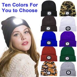 Unisex Winter Hats LED Light-u