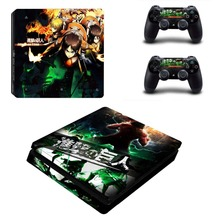 PS4 Slim Skin Sticker Decals Designed for PlayStation4 Slim Console and 2 Controller Skins – Attack on Titan
