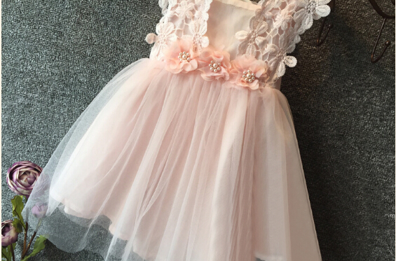 42a17e544 New Elegant Feast Baby Girls Princess Lace Flower Dresses Tulle Tutu Gown  Formal Party Dress Sweet Dresses-in Dresses from Mother & Kids on  Aliexpress.com ...
