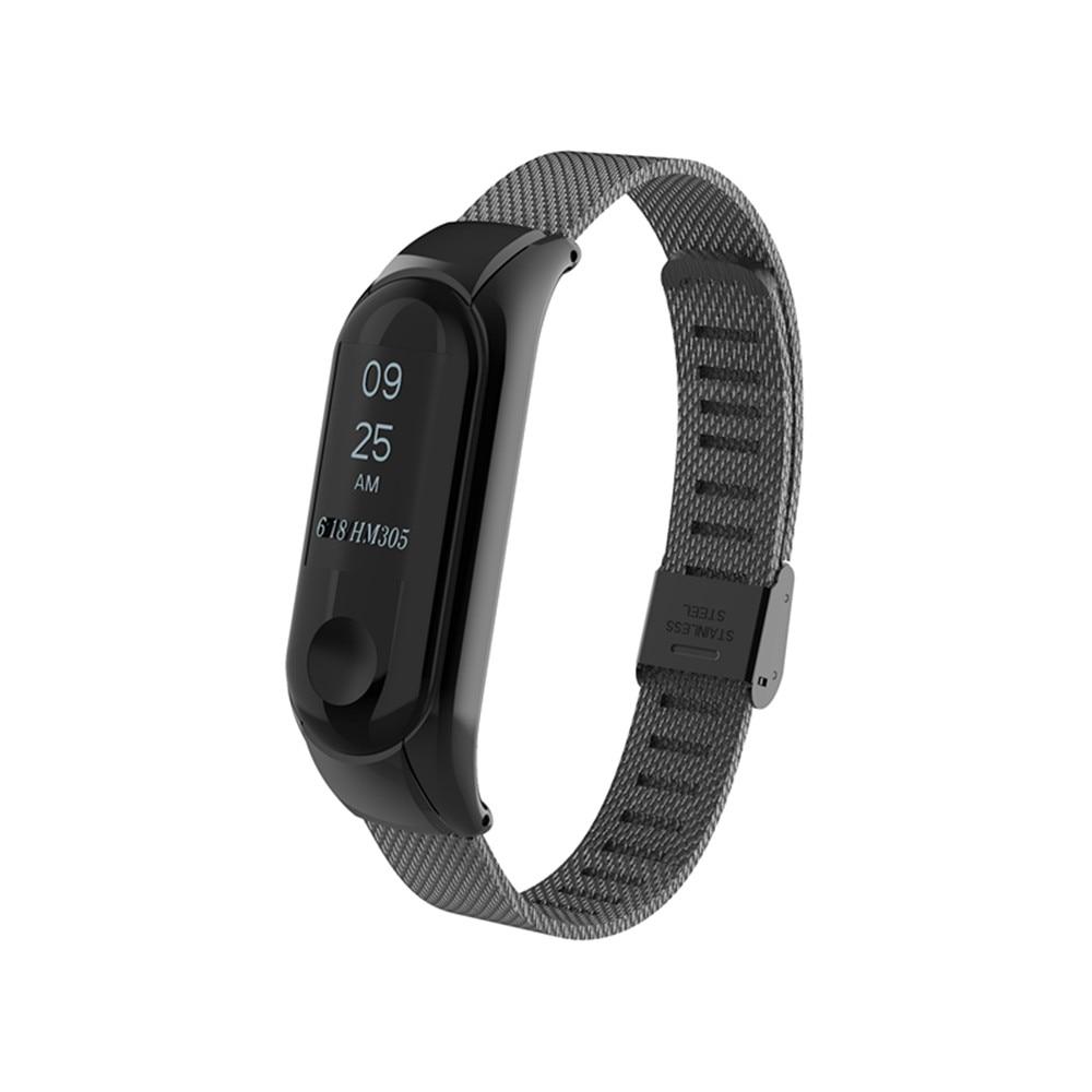Smart New Mi Band 3 Strap Bracelet For Xiaomi 2 Oled Stainless Steel Mijobs Silver Plis Black