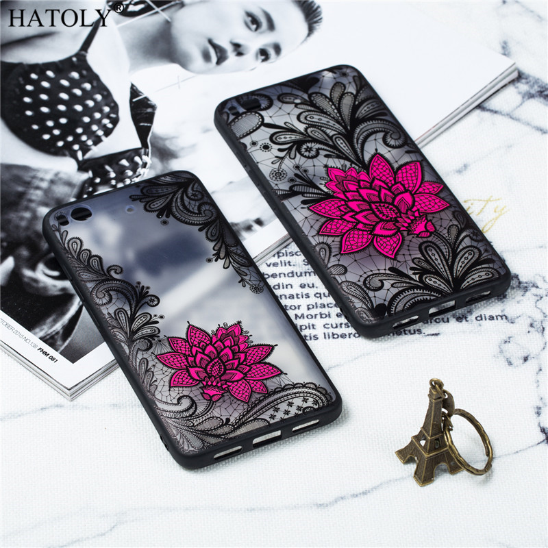 Phone Case For Xiaomi Mi 5S Case Silicone Cover Xiaomi Mi 5S Case Flower Capas Back Cover TPU PC Lace Rose Case Xiaomi Mi 5S in Fitted Cases from Cellphones Telecommunications