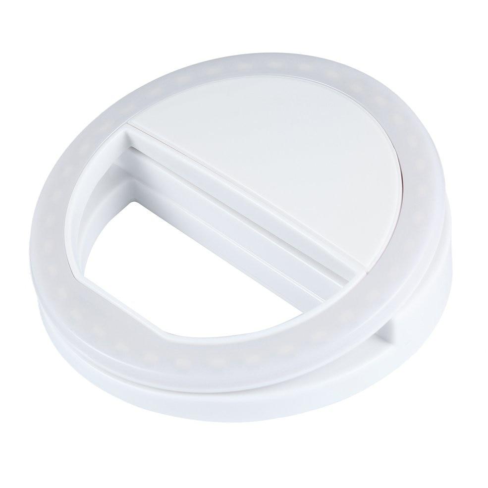 10PCS Portable Selfie Light Ring Clip Luminous Lamp LED Flash Light Phone Ring