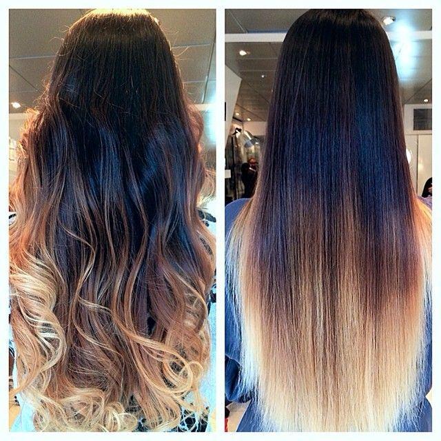 2014 New Fashion Brazilian Virgin U Part Blonde Ombre Straight Wigs