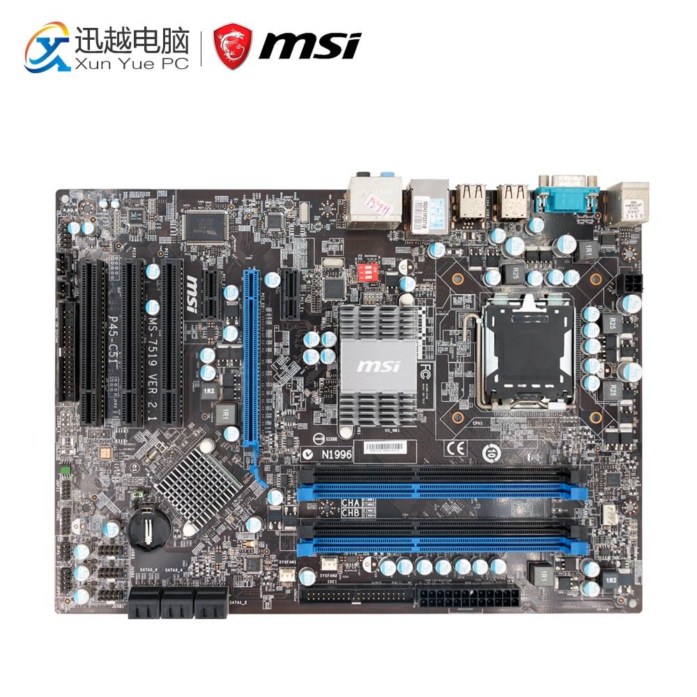 MSI P45-C51 Desktop Motherboard P45 Socket LGA 775 DDR3 8G SATA2 ATX motherboard for yy838 dr830 hk980 ct103 dimension e521 desktop dt system c51 ddr2