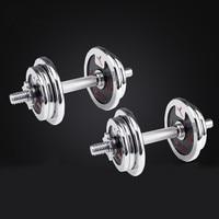 20KG plating dumbbell free weights set anti rust non slip mens dumbbells fitness equipment