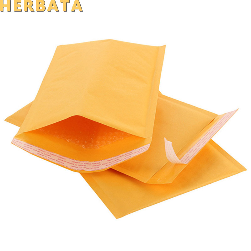Wholesale 50pcs/lot Manufacturer Kraft Bubble Bags Mailers Padded Envelopes Paper Mailing Bags 11X13cm CL-2003