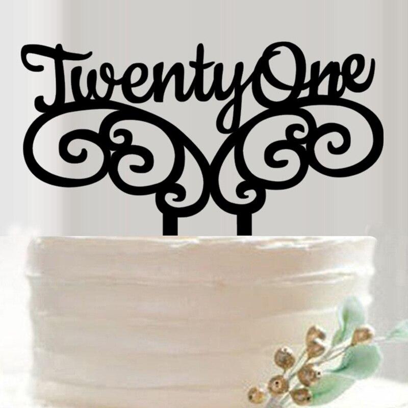 21 Wedding Anniversary Gifts: 21 Birthday Cake Topper 21 Wedding Anniversary Cake Topper