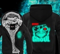 Tokyo Ghoul Green Fluorescence Winter Hoodies Sweatshirt Men Cute Casual  Male Jackets Hoody Cloak Shawl Cloth Keep Warm