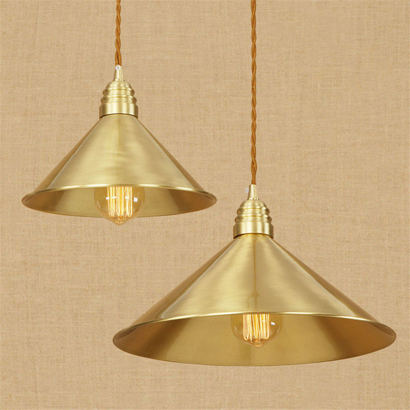 Aristocratic Copper Pendant Light Simple Bedroom Living Room Decoration Lamp European Luxury Court Retro Art Lamp Free Shipping