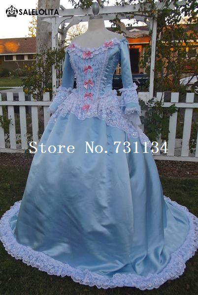 ad8caef450884 Medieval Marie Antoinette Feminine Fantasy Dress Sleeping Beauty Ballgown  Sweet Victorian Masquerade Long Dress Upscale Costume
