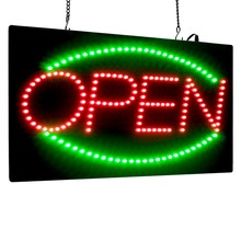 Animated LED Open Sign Advertising Light Board Mall Bright Sports Neon Commercial Billboard with US EU UK Plug